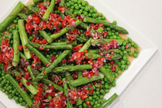 Grilled Asparagus and Pea Salad