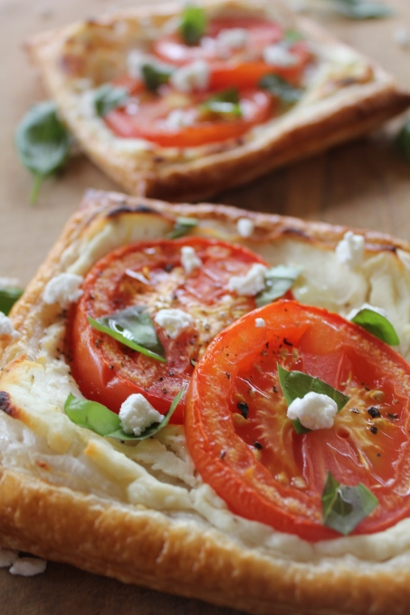 Rustic Tomato and Goats Cheese Tarts.JPG